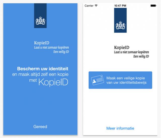 Identiteitsbewijzen kopiëren met KopieID-app