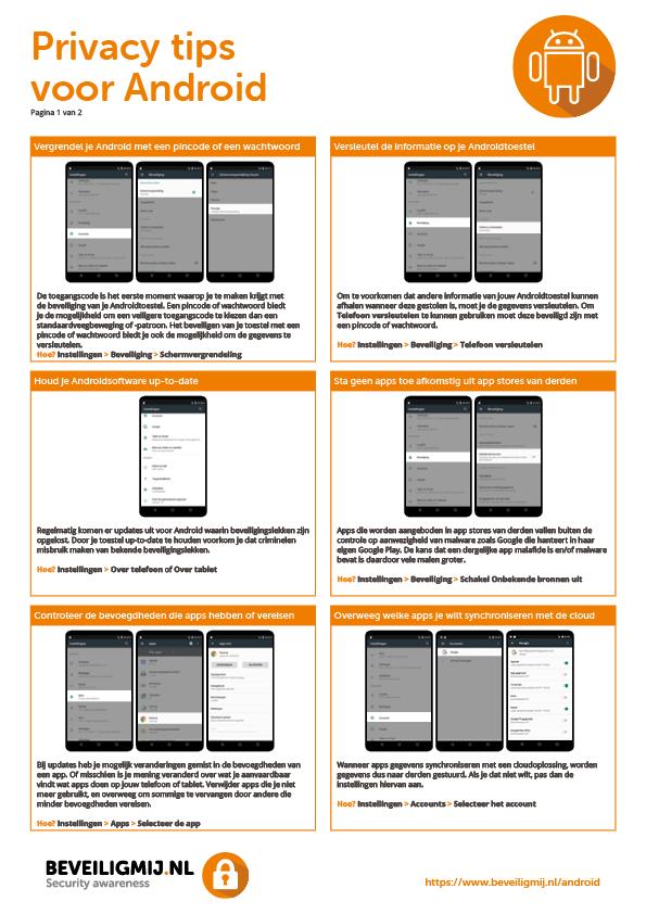Privacyinstellingen Android smartphone en Android tablet | BeveiligMij.nl