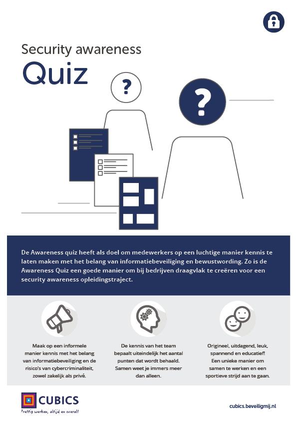 Cubics | Security awareness Quiz