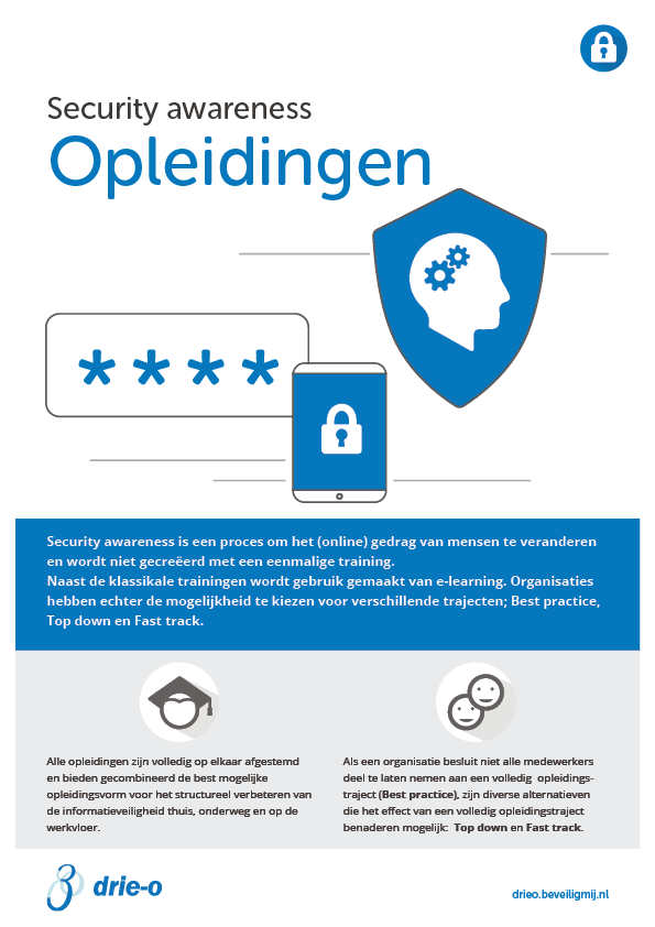 Drie-O Automatisering | Security awareness opleidingen