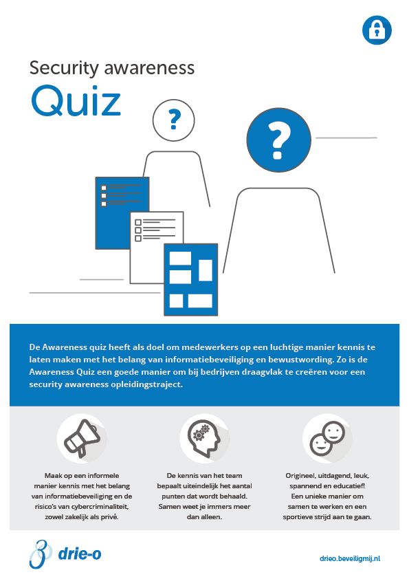 Drie-O Automatisering | Security awareness Quiz
