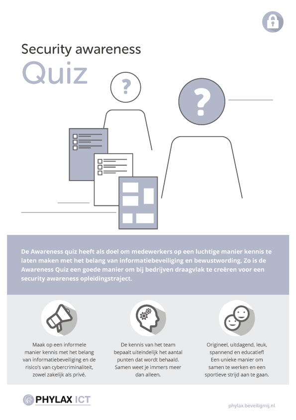 Phylax ICT Diensten | Security awareness Quiz