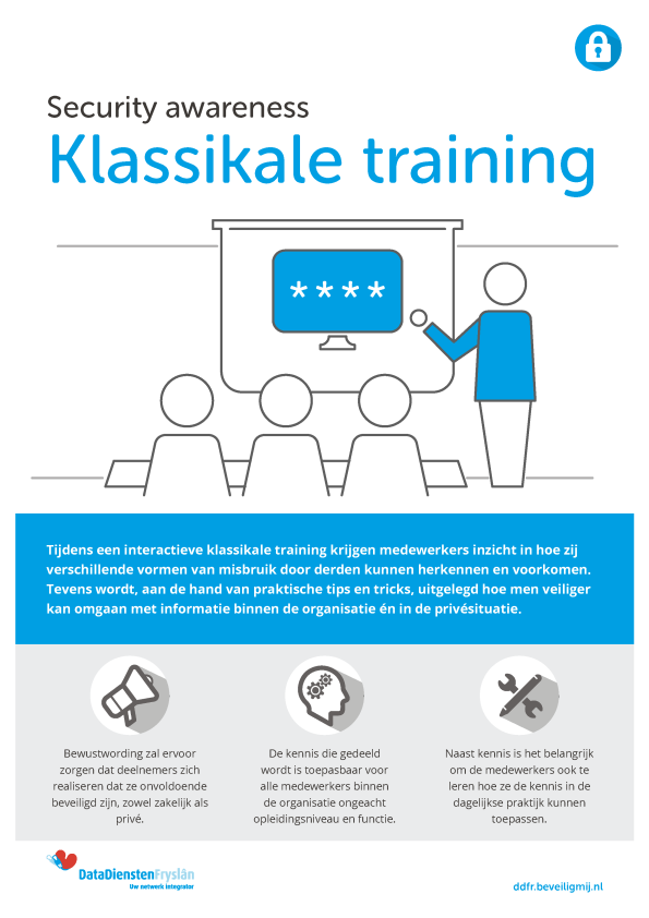 DataDiensten Fryslân Security awareness Klassikale training