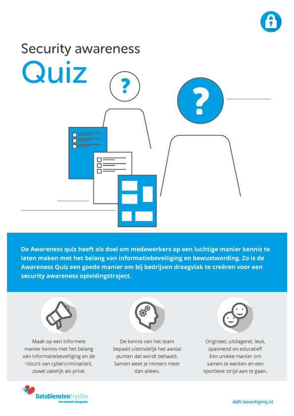 DataDiensten Fryslân Security awareness quiz