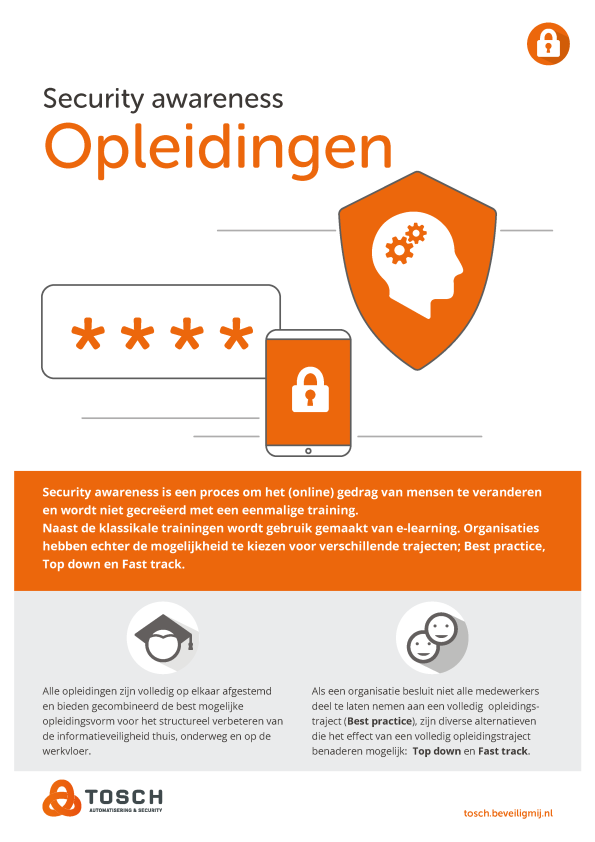 Tosch Automatisering & Security | Security awareness opleidingen