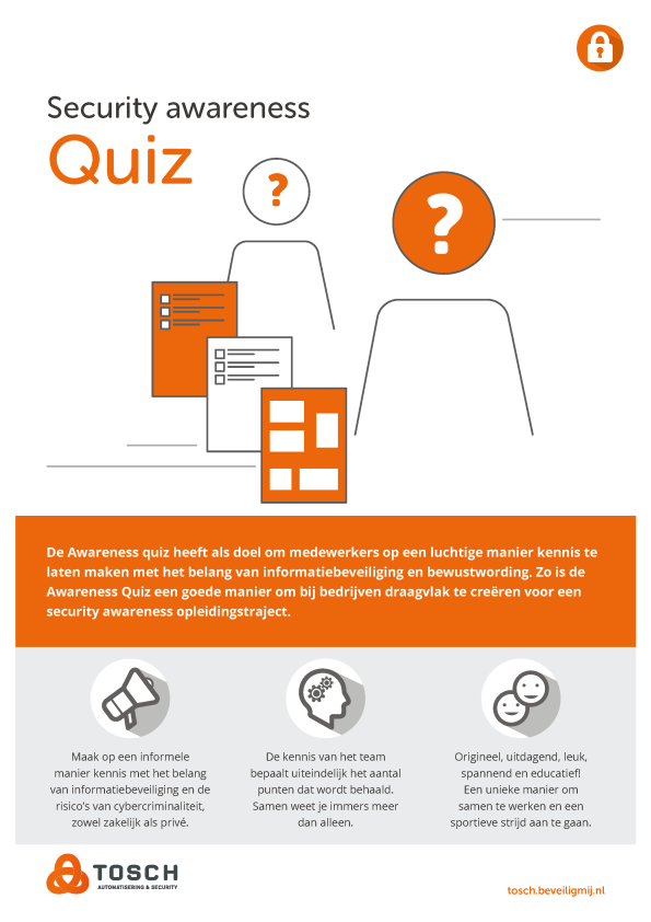 Tosch Automatisering & Security | Security awareness Quiz