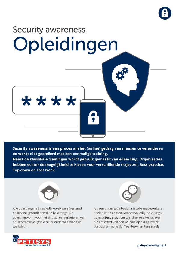 Petisys | Security awareness Opleidingen
