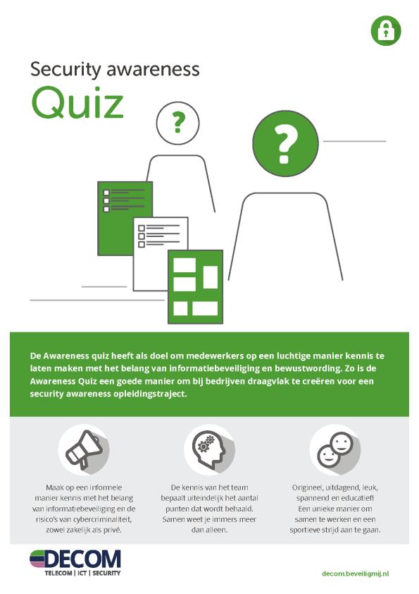 Decom | Security awareness Quiz
