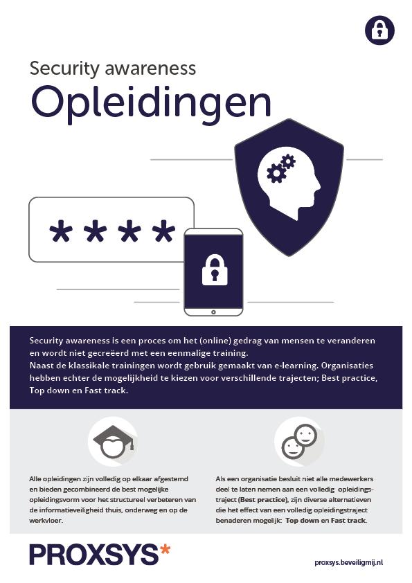 Security awareness Opleidingen   Proxsys